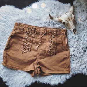 Cotton On Size 6 Boho Laced Tan Shorts